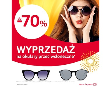 Vision Express materialy marketingowe wyprzedaż do -70%