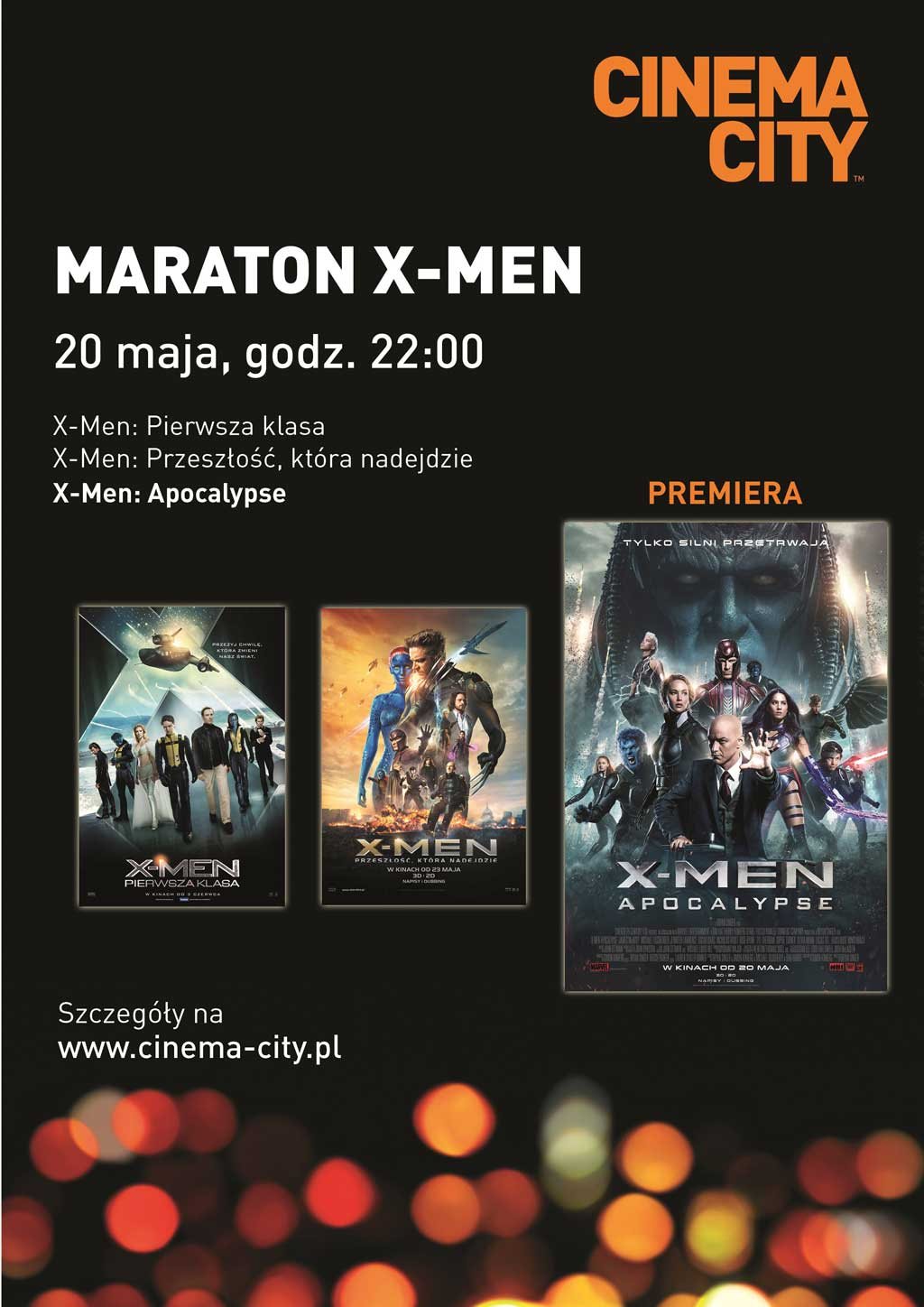 maraton x men w kinach cinema city centrum handlowe gemini park bielsko bia a. Black Bedroom Furniture Sets. Home Design Ideas